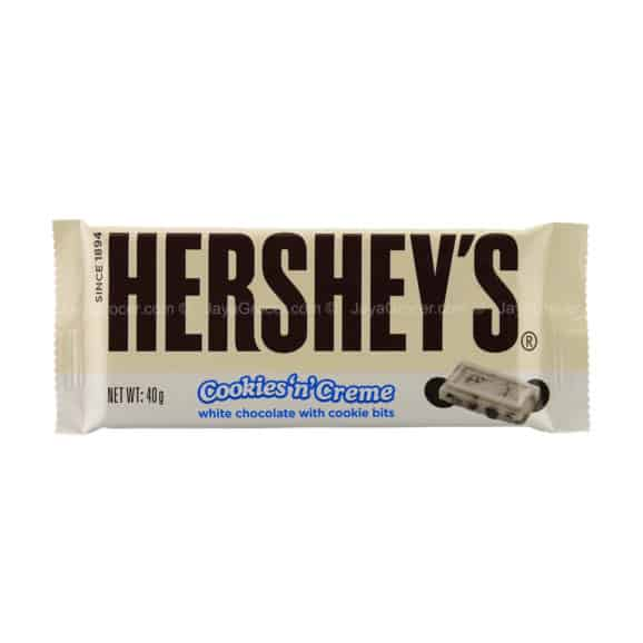 hershey chocolate bar cookies and cream