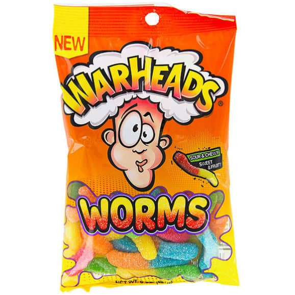 warheads gummy worms candy