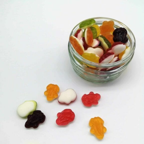 Haribo Frogs in bowl