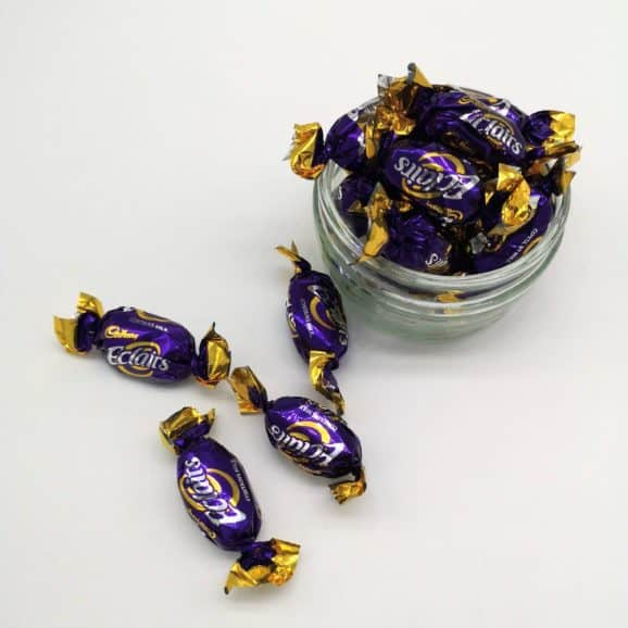 cadbury chocolate eclairs calories image