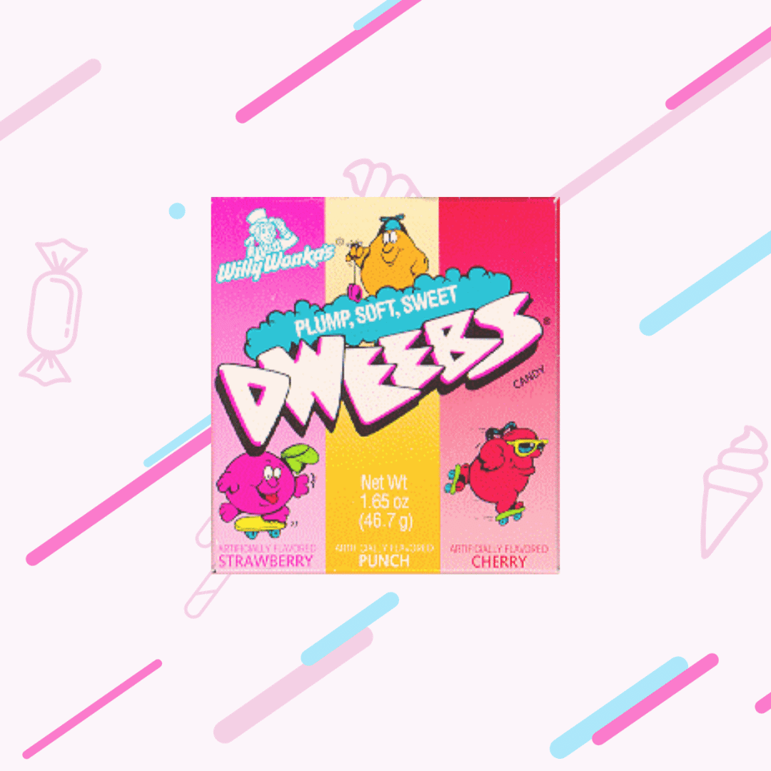 A picture of the packet of Dweebs sweets