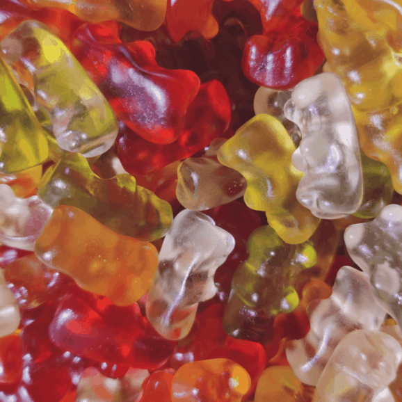 Close up of Haribo golden bears